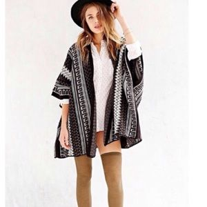 Urban Outfitters Ecote Knitted Poncho